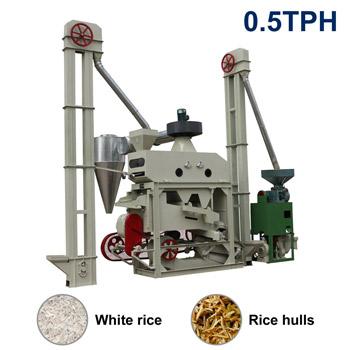 Xct500 Automatic Mini Rice Mill Plant 0 5tph Output